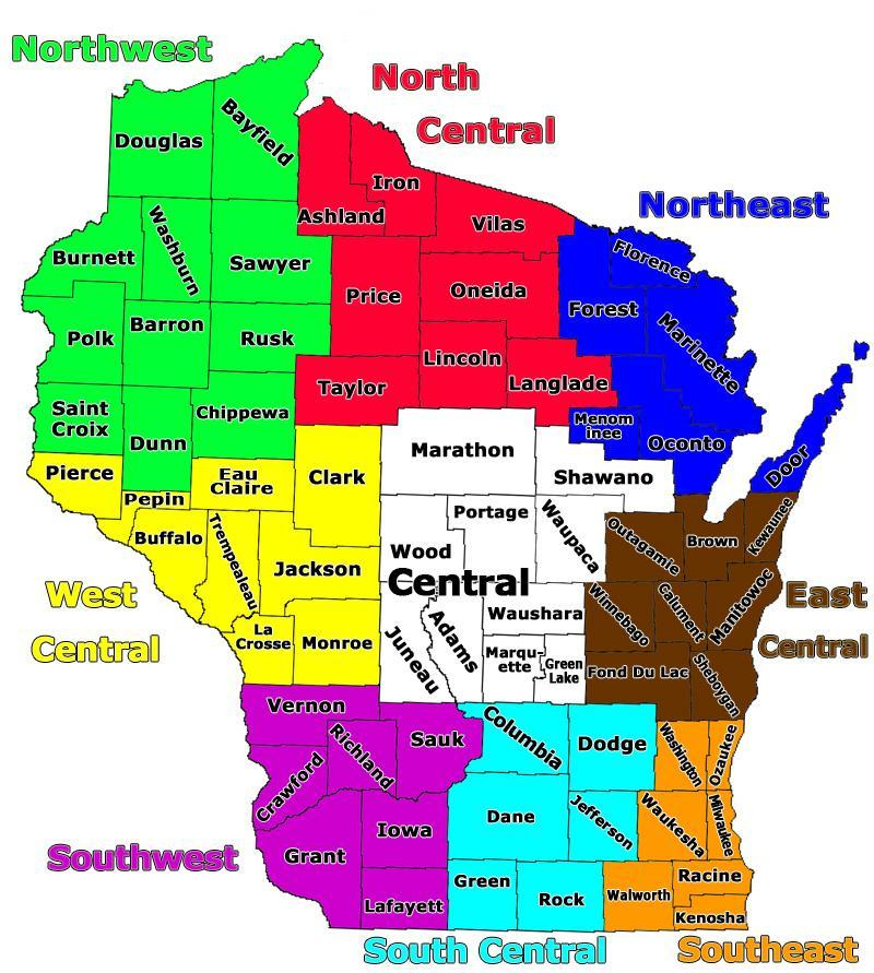 Public Hunting Land Wisconsin Map.Wisconsin Land Map