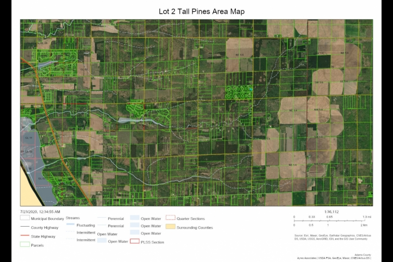 Lot 2 Tall Pines AREA Map