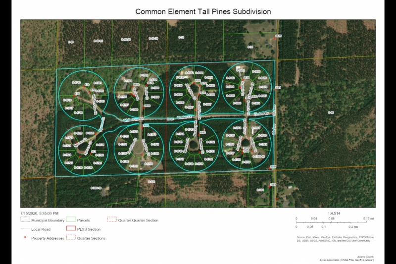 Tall Pines Common Elements Map